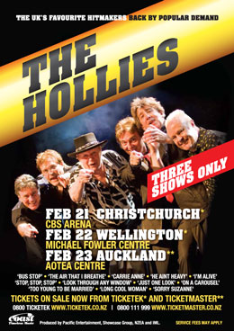 The Hollies Tour New Zealand February 2014