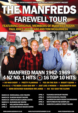 The Manfreds NZ Farewell Tour - March & April 2019